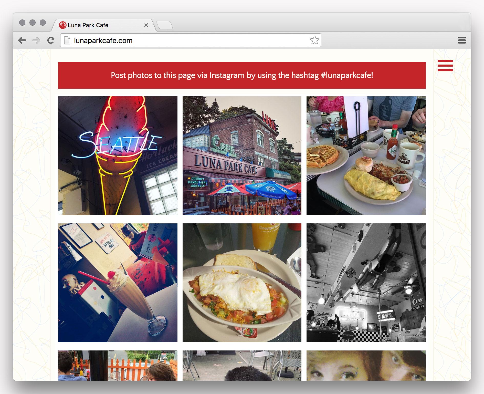 Luna Park Cafe website